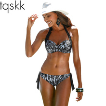 TQSKK 2017 New Sexy Bikinis Women Swimsuit Push Up Halter Top Bikini Set Plus Size Beachwear Bathing Suit Biquini Swimwear 2XL(China)