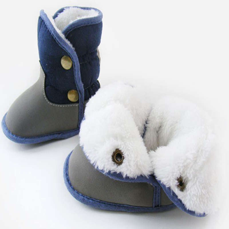 Winter Baby Snow Boots Fur Knitted Wool Thicken Warm keeper Toddler Boy Kids Shoes First Walker Infant Newborn Baby Shoes<br><br>Aliexpress