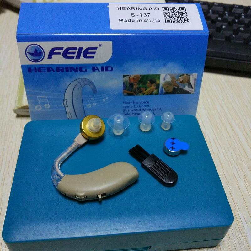 Feie Audifono Sordera S-137 In Ear Medical Mini Listening Device Deaf Earphone free shipping