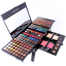 Miss Rose 180 colors eyeshadow palette matte nude shimmer eye shadow set with brush mirror +6 Eyebrow