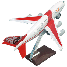 Caipo 1:32 A380 Passenger Plane Model Alloy Toy Airplane Airbus Acousto-Optic Pull Back Gifts For Children High Simulation 21CM