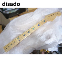 disado 22 Frets maple Electric Guitar Neck maple fretboard inlay stars wood color guitar parts accessories can be customized(China)