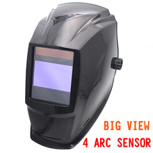 Big view area Solar Auto darkening filter welding helmet/face mask/Electric welder mask/gogglssfor TIG MIG MMA welding machine(China)