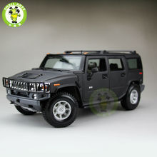 1/18 Hummer H2 SUV Maisto Diecast Model Car SUV Model Matte Black
