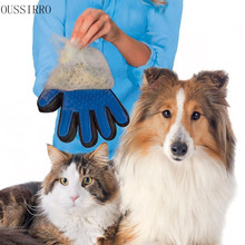 New OUSSIRRO 2017 Amazing Glove Tool Pet Grooming for Remove Cat Dog Dirt Hair Dander Five Finger Glove