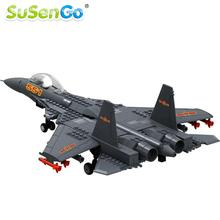 SuSenGo F-15 Eagle Fighter Plane Building Blocks Military Army Kits Models Gift Construction Toys Bricks(China)
