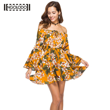 Buy NGOLODO Summer Dress 2018 Women Casual Beach Short Dress Tassel Orange Mini Print Dress Sexy Party Dresses Vestidos S-XXL for $17.53 in AliExpress store