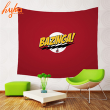 Hyha HD The Big Bang Theory Style Tapestry Wall hanging Red Yellow Green Yoga Mat Beach Towel Home Decor