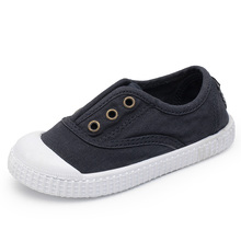 Hot Sale Children Canvas Shoes Spring/Summer Breathable Elastic Band Slip on Kid Sneakers Boys Girls Baby Toddler Flats 5 Colors