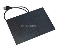 3W5V solar panels imported monocrystalline silicon wafer solar panels, 600MA epoxy board