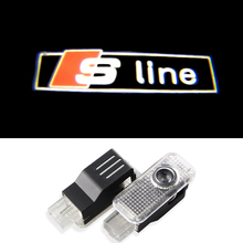2X Led Projector Logo Welcome LED Car Door Light Laser Car Door Shadow For AUDI A1 A3 A4 A5 A6 A7 A8 Q3 Q5 Q7 TT