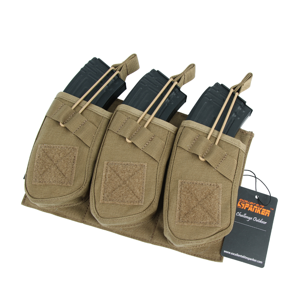 Tactical Universal Triple AK47 Ammo Clips Outdoor Hunting Equipment Bag Military Molle Magazine Pouch