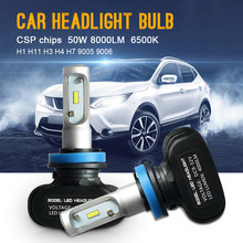 Buy One Set H11 LED Car Bulbs 50W 8000LM Car Headlight Kits CSP Chips Automobile headlamp Fog Light 6500K Xenon White for $24.08 in AliExpress store