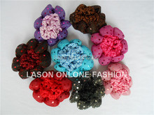 10pcs/lot Elegant Shiny Girl Women Bun Cover Snood Hair Net Ballet Dance Skating Crochet Sequins Decro