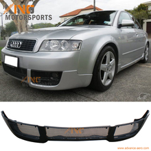 For 2002 2003 2004 Audi A4 B6 V-Style PU Front Bumper Lip Spoiler Poly Urethane Bodykit