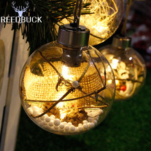 Led Xmas Holiday Decoration Light 8cm Romantic Christmas Tree Ornaments Lamp Clear Ball 4 Types For Home Party New Year Lighting