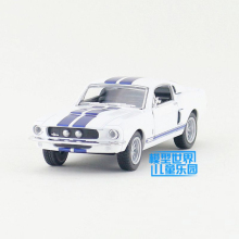 Kinsmart Mustang Shelby GT500 1967 White 1/38 alloy models model car back pull back car children's toys car Kids toy