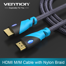 Vention HDMI Cable 1m 2m 3m 5m Gold Plated HDMI Male to Male HDMI 1.4V 1080P 3D for PS3 projector HD LCD Apple TV Computer Cable(China)
