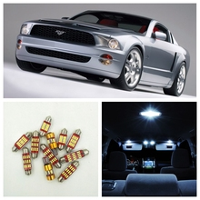 10pcs Xenon White Canbus LED Light Bulbs Interior Package Kit For Ford Mustang 1994-2004 Map Dome License Plate Light Ford-C-17(China)