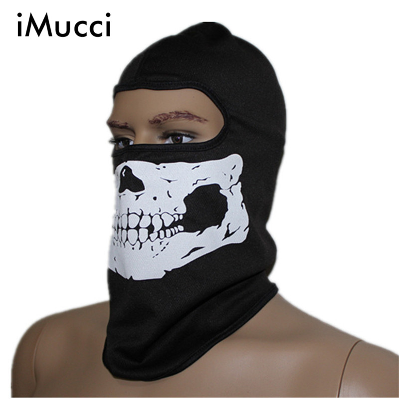 iMucci Cosplay Skull Ghost Face Windproof Mask Outdoor Sports Warm Ski Caps Bicycle Bike Balaclavas Scarf Halloween Face Mask )