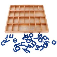 Baby Toys Montessori Moveable Alphabets a-z Sound Learning Words Table Toys