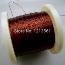 Free shipping size 0.15mm long 200m QZ-2/180 Degree copper enameled wire / magnet wire(China)