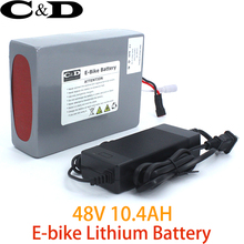 48V 10.4AH E-bike ebike Battery Pack Lithium ion Battery for Electric bike and Electric Bike Coversion Kit Including Charger(China)