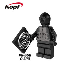 PG658 Super Heroes Single Sale Death Star Droid Star Wars C-3PO C3PO Bricks Action Building Blocks Collection Toys for children(China)