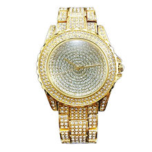 2018 Brand New vintage Ladies Luxury rose Gold Quartz dress Wristwatches  Women Rhinestone Watches steel bling bling diamond 97b345e59888