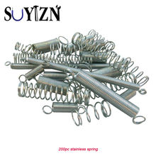 200PC Spring Assortment Tension Metal Steel Spring Wire Pin Assorted Small Compression Return Springs Set Case Easter Gift Boxes(China)