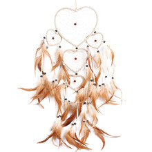 Vintage Handmade Dream Catcher Dream Catcher Net with Feather Bead Wall Hanging Decoration Car Ornament Craft Gifts(China)