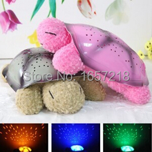 2 Colors Musical Turtle Night Light Stars Constellation Lamp Without Box,1pc/lot(China)