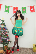 Age 18-35 yrs Sexy Adult Women Christmas Costume Christmas Party Sweetheart Miss Santa Cosplay Dress+Headwear