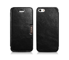 Original Icarer Brand Flip Cover for iPhone SE Luxury Genuine Leather Case for iPhone 5s Capa Phone Cases for iPhone 5 5s(China)