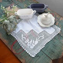 HOT Square cotton placemat pot cup mug holder coaster office kitchen accessories handmade table place mat lace Crochet doily pad