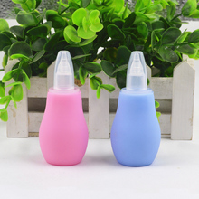 New Baby Infant Kids Children Care Safe Non toxic Silicone Nasal Aspirator Cold Nose Snivel Mucus Clean Suction Device Cleaner(China)