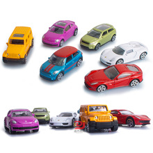 EFHH 6Pcs/set 1:64 Mini Pocket Toys Alloy Vehicles Car Model Diecast Toy Birthday Christmas Gift for Kids Drop Shipping 2121014(China)
