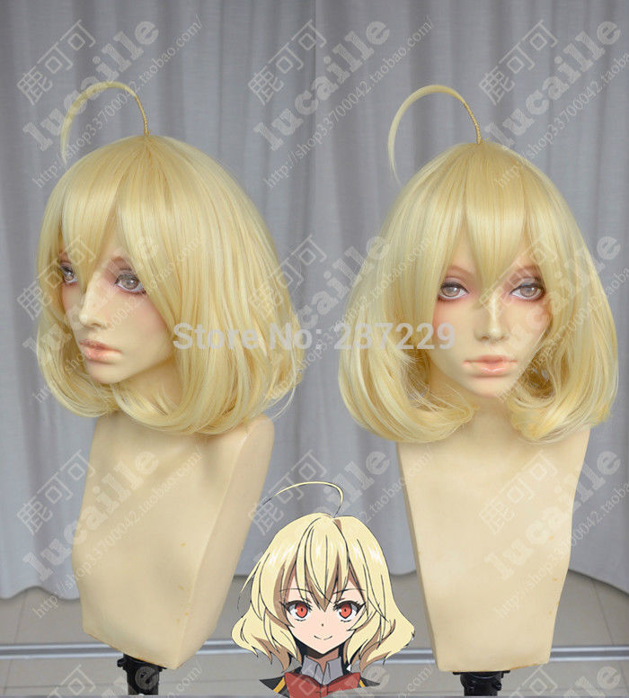Wholesale price FREE p&amp;P****Akuma no Riddle COS wig New Medium Long Blonde Cosplay Anti- Alice Hair wigs<br><br>Aliexpress