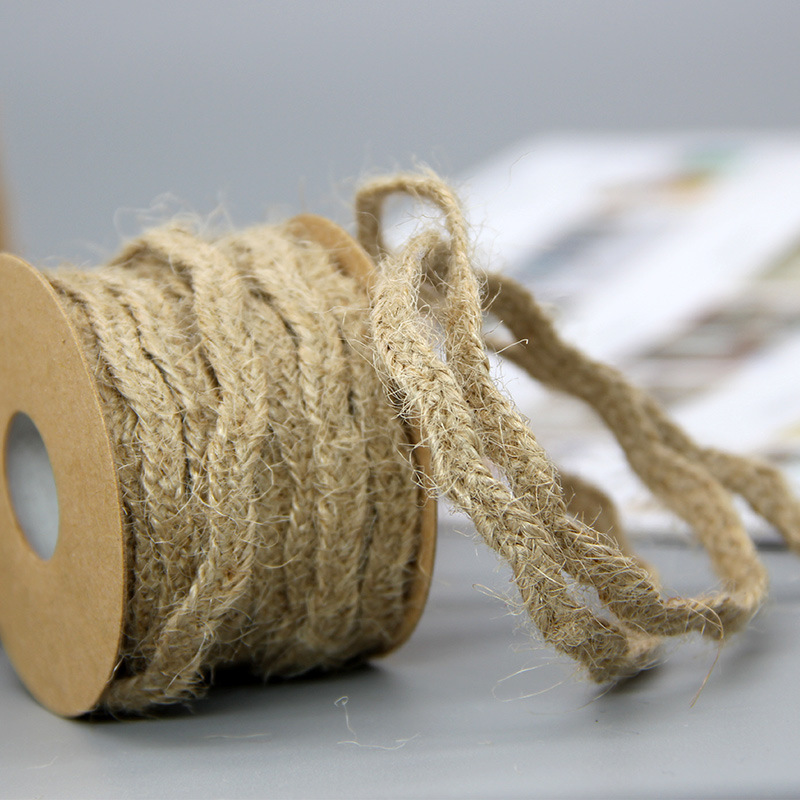 6mm*5M Natural Jute Twine Burlap String Hemp Rope Party Wedding Gift Wrapping Cords Thread DIY Scrapbooking Florists Craft Decor 4