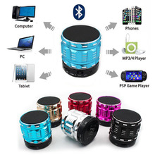 S28 Portable Mini Bluetooth Speakers Metal Steel Wireless Smart Hands Free Speaker With FM Radio Support SD Card For iPhone Sony