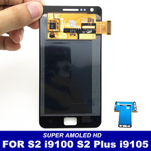 100% Tested AMOLED LCD for Samsung Galaxy S2 i9100 S2 Plus i9105 LCD Display Touch Screen Digitizer Full Assembly Replacement(China)