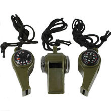 1 pc Multifunction 3in1 Whistle Compass Thermometer Outdoor Emergency Survival Tools sporting goods