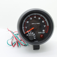 Car Tachometer 3.75inch(95.25mm) Black Shell Red Light Tachometer Gauge RPM Car Auto Meter Pro Racing Car 2017