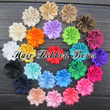 "Toplay 200pcs/lot 1.5""Handmade Satin Ribbon Flower Girl Fabric Flowers Boutique Hair Flower For Dress/Shoes Decoration"