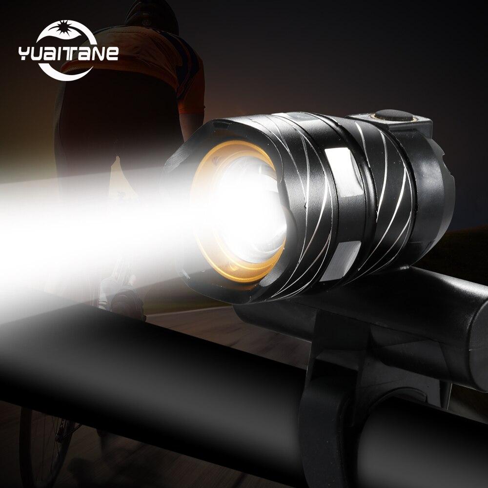 T6 LED MTB Fahrrad Lampe Beleuchtung Licht USB Akku Scheinwerfer Rücklicht Set