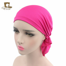 Breathable Bandana Scarf Pre Tied Cotton Chemo Hat Beanie Turban Headwear for Cancer Patients