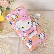 Dollar Price Fashion Brand Magic Cute Short Long Mirror Hello Kitty Women Ladies Female Leather Wallet Clutch Purses 45(China)