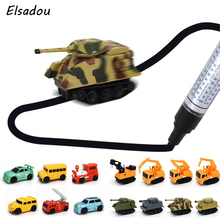 Elsadou 2017 New Engineering Vehicles Truck MINI Magic Children's Truck Tank Toy Car Draw Lines Induction rail Track Car