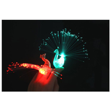 5pcs/lot Peacock Light-up Toys Luminance Glow luminous Flash Flashing Colorful LED Finger Light Toys Party Decoration Gifts