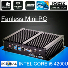 Fanless Mini PC i7 5550U i5 4200U i3 5005U Industrial Computer 24 Hours Working 2 COM HDMI VGA Dual Display 300M Wifi 4K HD HTPC(China)